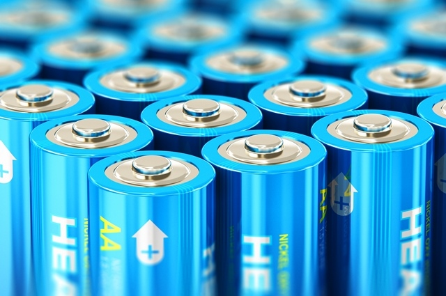 raccolta di materiali di recupero batterie